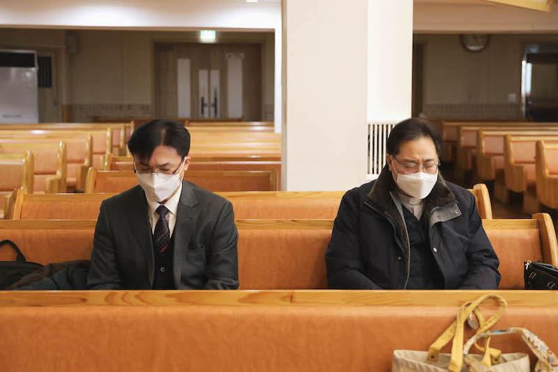 준비기도 하시는 임예길 목사님 과 담임 목사님